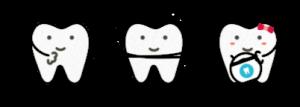 Three teeth cartoon - Children's Dentistry of Lincoln