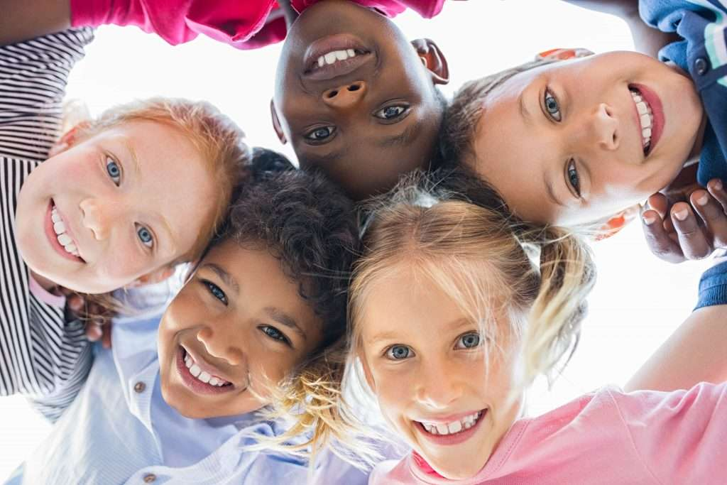 Kids huddled up - Children's Dentistry of Lincoln